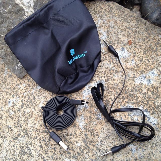Blue Piston Wireless Rechargeable Speaker - 3