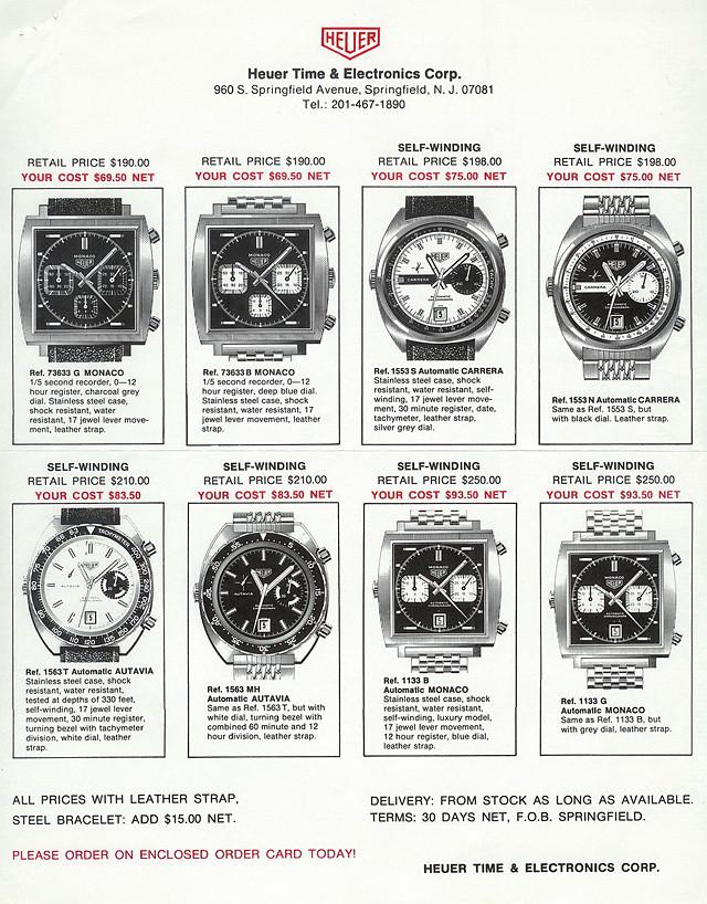 Cal. 15's in Heuer Brochure