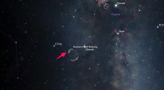 Eastern Veil Nebula finder chart