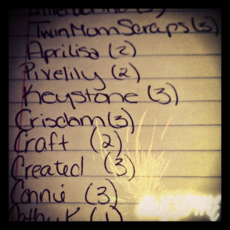 My #checklist for #gingerscraps #freshbaked #newsletter... Gotta keep those #numbers straight #FMSPhotoADay #pixlrexpress