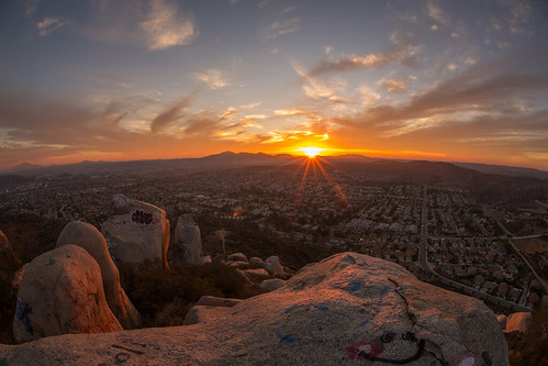 Sunset from atop a mountain in Santee California  Flickr
