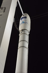 Vega flight VV09 with Sentinel-2B stands ready on the launch pad