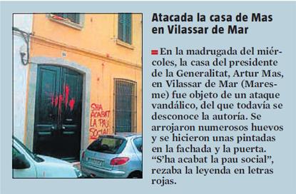 13i12 LV Agresión contra casa AMas en Vilassar de Mar