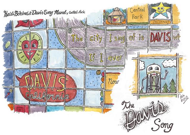 heidi's davis song mural detail