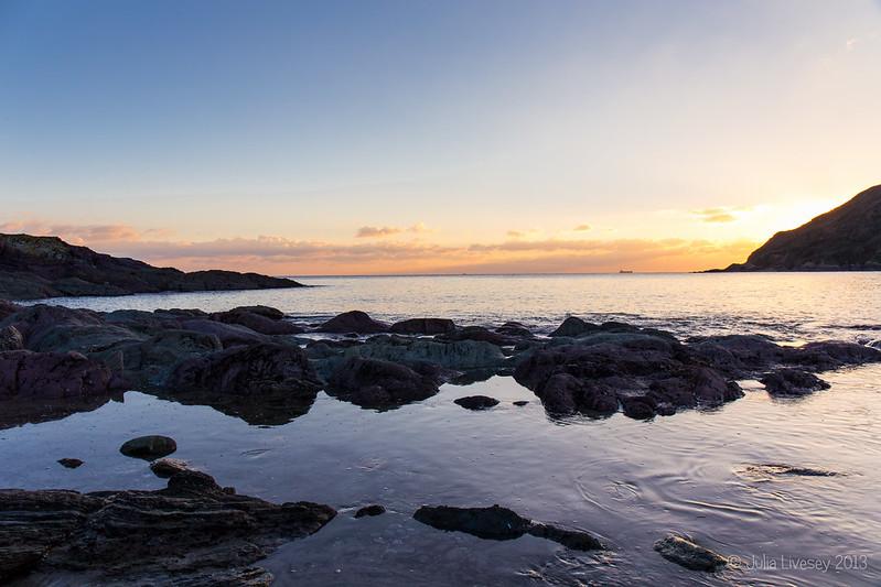 Sunset at Talland Bay, Cornwall