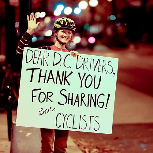 Giving thanks to the 98% of drivers who are doing it right. Compassionate, patient, understanding, courteous drivers, thanks for being awesome! We appreciate you! (Photo by George Newcomb).