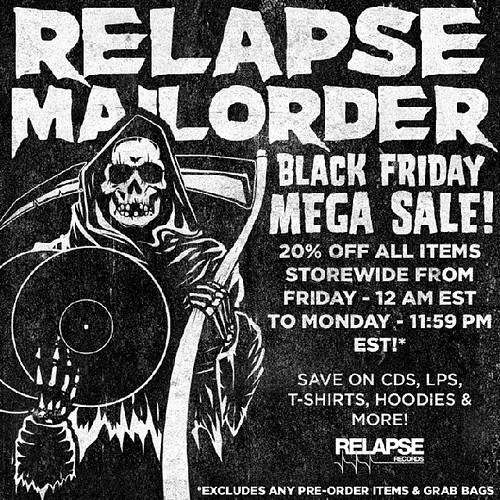 Relapse Records Black Friday Sale