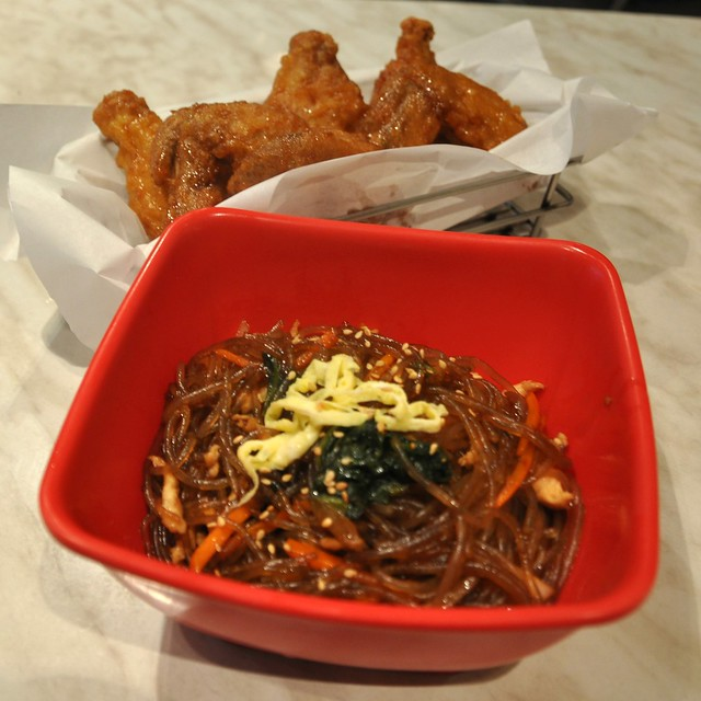 Bon Chon Chap Chae and Chicken