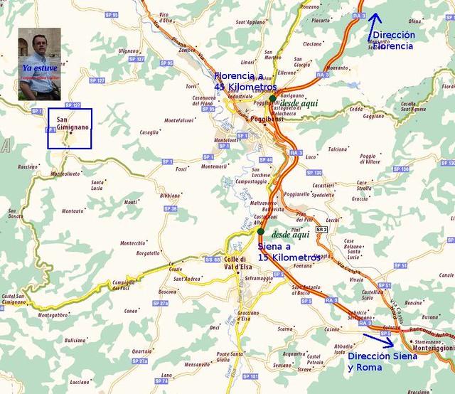 Mapa localización San Gimignano
