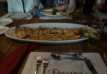 Prawns in Hout Bay