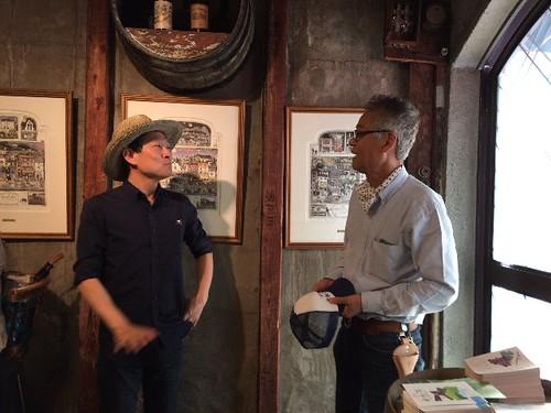 カタシモワイナリーの社長さんと、尾持さんです。