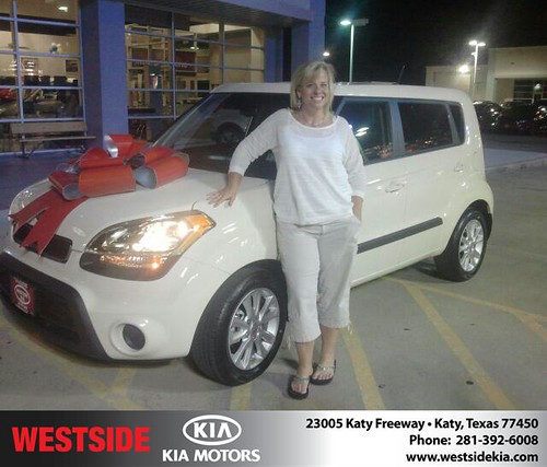 Thank you to Karla Pruitt on the 2013 Kia Soul from Gil Guzman and everyone at Westside Kia! by Westside KIA