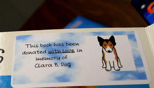 67/365 - Clara's Book Label