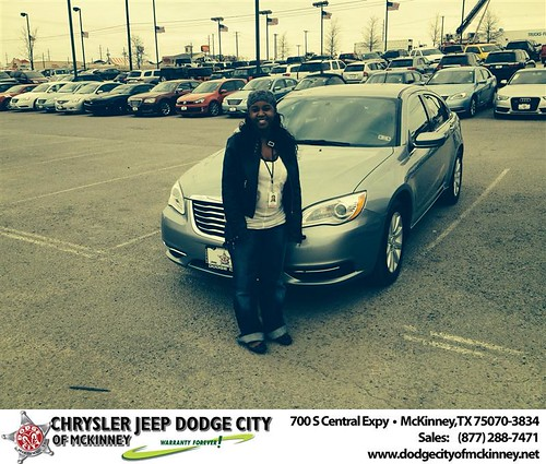 Thank you to Markita  Holmes on your new 2014 #Chrysler #200 from Dale Graham Graham and everyone at Dodge City of McKinney! #NewCarSmell by Dodge City McKinney Texas