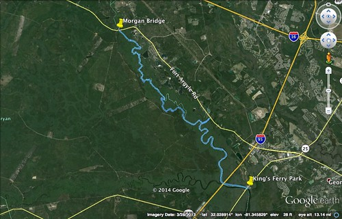 Ogeechee Paddle Route