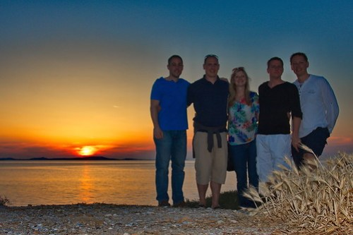The Crew in Naxos at Sunset