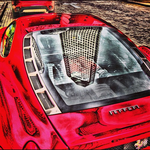 HDR of a Ferrari parked at Millenia Square #singapore by @MySoDotCom