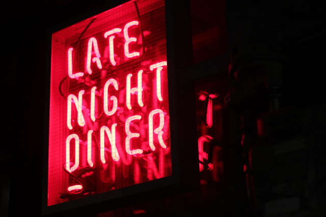 Friday: late night dinner in Auckland