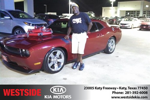 Thank you to James Wyatt Sr. on the 2009 Dodge Challenger from Gil Guzman and everyone at Westside KIA! by Westside KIA