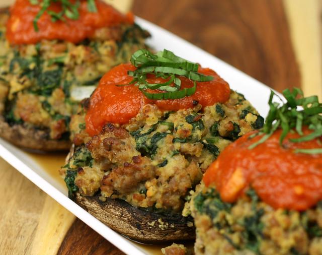 cogumelos recheados comida thanksgving EUA