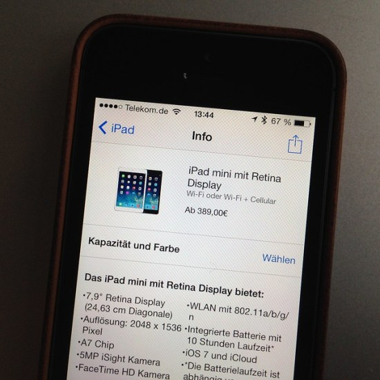 iPad mini mit Retina