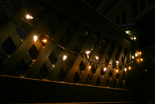 lights along the latticework