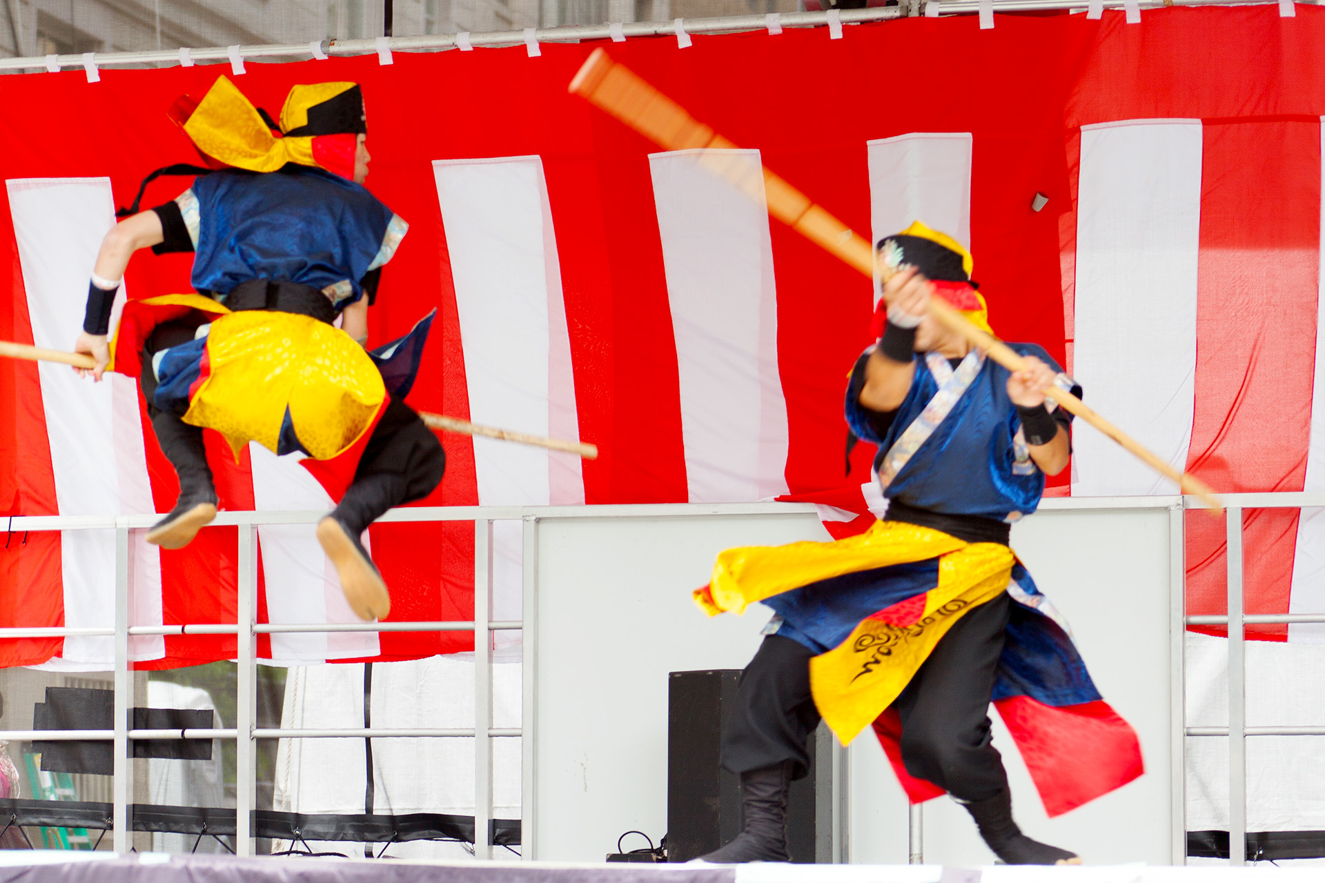 Fighting demo, Matsuri Festival.