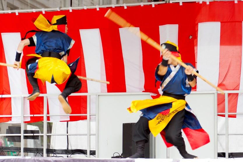 Fighting demo, Matsuri Festival.