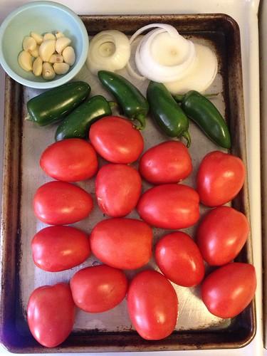 Tomato Salsa fixins
