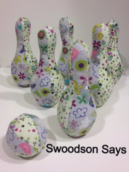 DIY Fabric Bowling Set- Swoodson Says