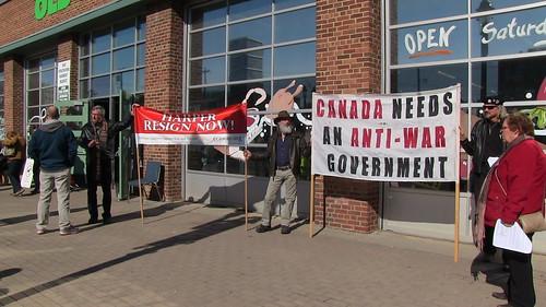 ECAWAR Stop Harper Picket - March 15, 2014