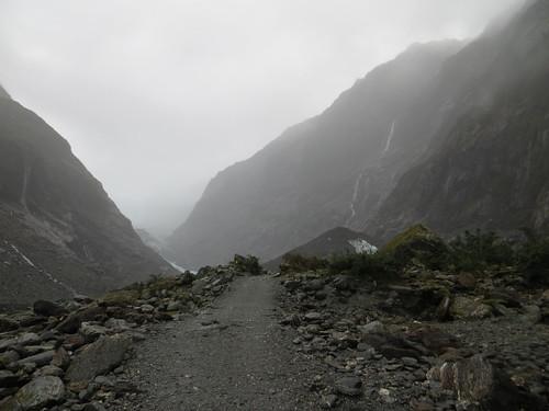 the glacier path