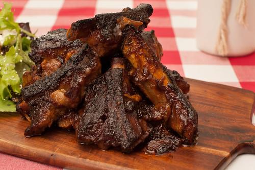 Mayo & BBQ Sauce Pork Ribs