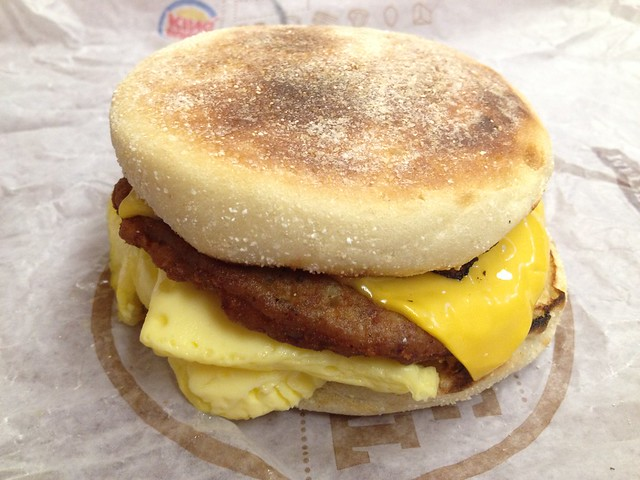 Sausage, egg and cheese muffin - Burger King