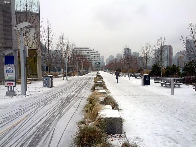 Snowy Seawall