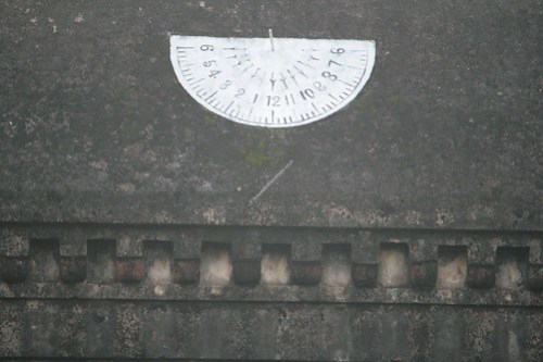 Sun Dial in the Outer wall of the temple. Thiruvisanallur, Sivayoginathar Temple