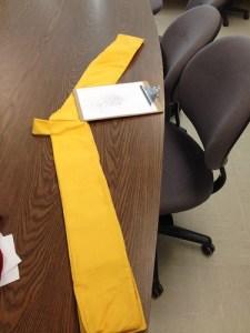 Thirty Days of Making: yellow sash