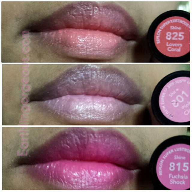 Revlon Super Lustruous Lipstick on my lips