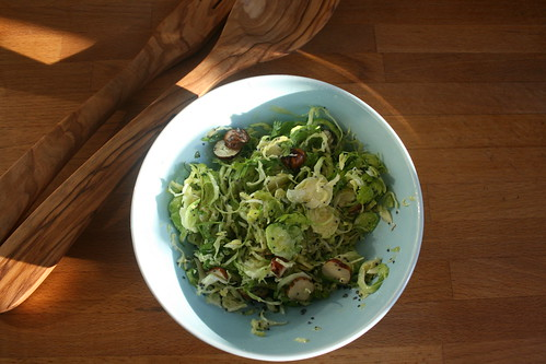 Brussels sprout salad by the james kitchen