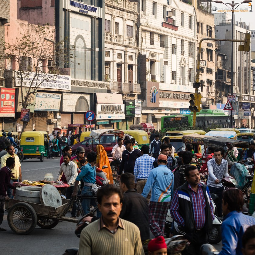 In the streets of Dehli