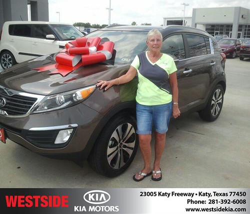 Thank you to Catharina Townes on your new 2013 Kia Sportage from Gil Guzman and everyone at Westside Kia! by Westside KIA