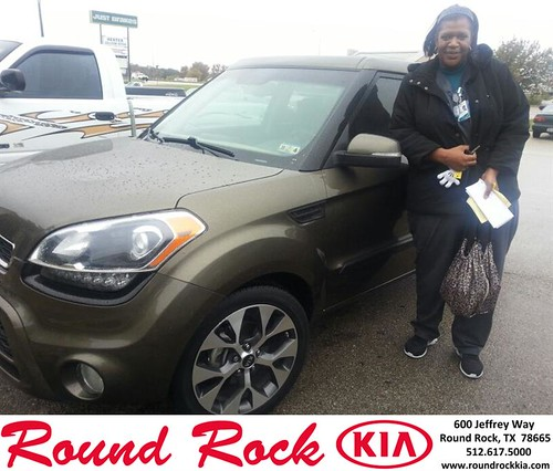 Thank you to Cyanthia Bedford on your new 2013 #Kia #Soul from Fidel Martinez and everyone at Round Rock Kia! #NewCar by RoundRockKia