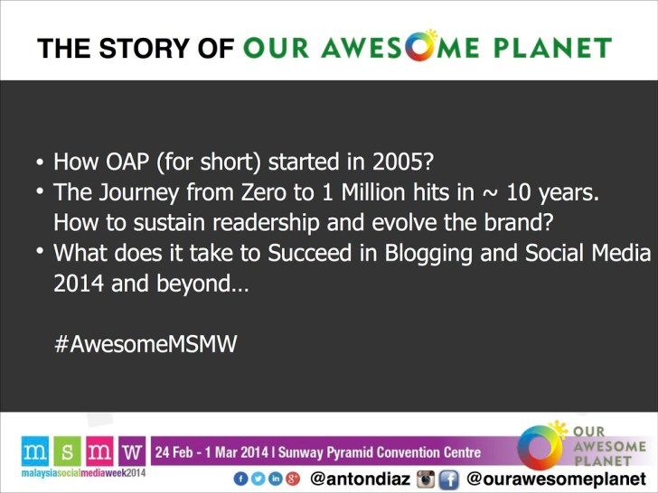 The Road to 1,000,000 Pageviews - The OAP Story MSMW2014 -2