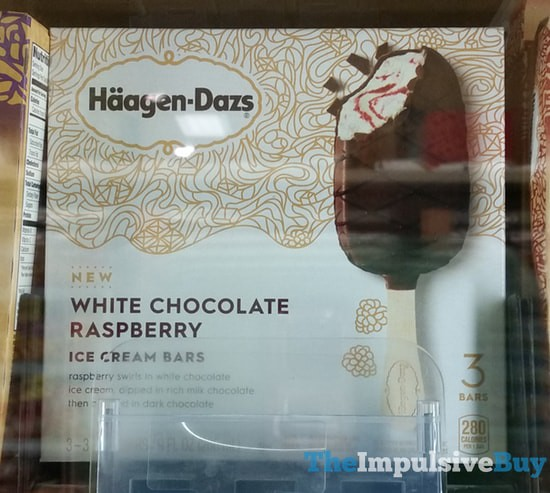 Haagen-Dazs White Chocolate Raspberry Ice Cream Bars
