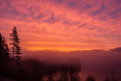 Sunrise in Hedmark Norway