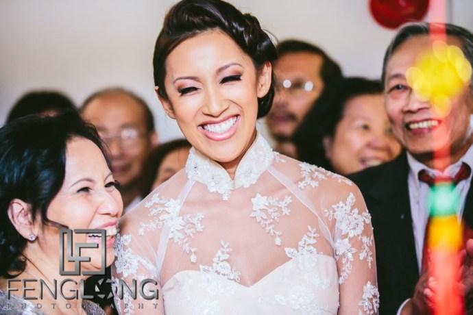Vietnamese bride makes entrance during wedding day 1