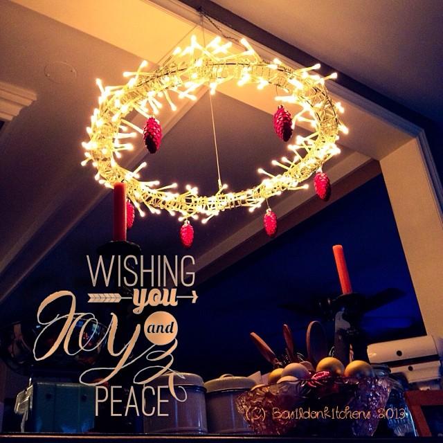 Dec 7 - shining bright {Christmas lights in my kitchen!} #photoaday #shining #bright #christmas #lights
