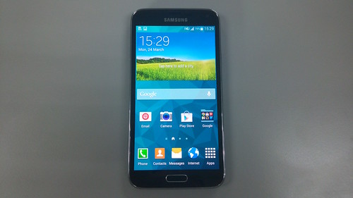 Samsung Galaxy S5 ด้านหน้า