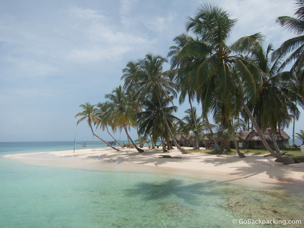The beach on Kuanidup, one of the many islands making up San Blas