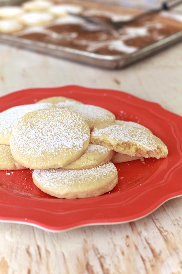 Almond Pillow Cookies  The Noshery